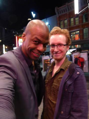 Ardie Fuqua after a show at the Commodore. Really a wonderful comedian and person and MC's the Comedy Cellar all the time.