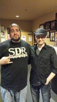 Big Jay Oakerson, after a show at the Comedy Mix in Vancouver. Really funny and a nice guy. This is a few years old (there's that fucking hat again) and he's lost a lot of weight since then.
