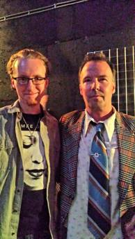 "Doug Stanhope after a show at the Rickshaw on Hastings. We talked during the show for his mental illness bit and then when we met at the merch table he said ""Hey, Crazy!"" and gave me a big hug."