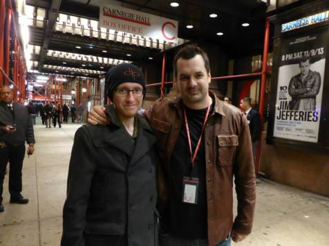 Jim Jefferies before a show at Carnegie Hall in New York, 2013. He was walking around the venue before the show.