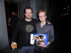 Jim Jefferies after a show at the Vogue(?) in Vancouver. The photo I'm holding is the first one in NY. He signed it. I wanna get another of me holding this picture.