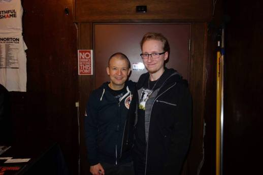 Jim Norton, after a show at the Aladdin Theatre in Portland, Oregon. One of my all-time favourites.