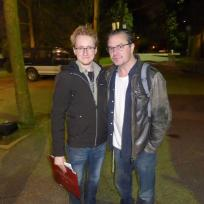 Mike Patton, after a show at the PNE grounds. A really nice guy, I could listen to him speak Italian all day.