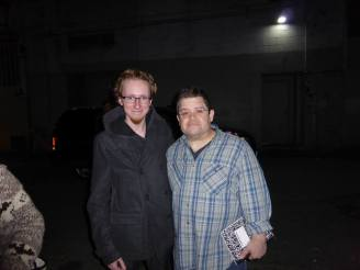 Patton Oswalt after a show at the Vogue in 2013. I had a horrible cold that day, and it was fucking freezing out. He was an absolute sweetheart and my heart broke for him when his wife died. I hope he's well.