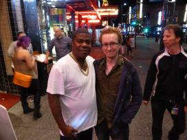 Tracy Morgan, after a show at the Commodore. This is just a couple weeks before the accident. Glad to see he is doing much better.