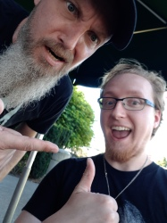 "Me n Brian ""Beav"" Waddell. Super relaxed guy; really fun and interesting to talk to."
