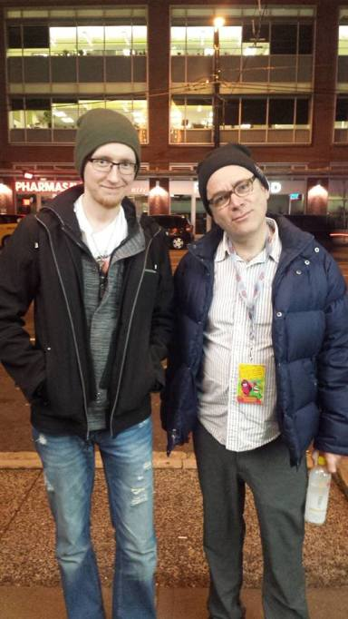 Me n Todd Barry after the Dirty Show in Vancouver in 2016.